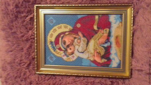 """Иконы ручной работы. Ярмарка Мастеров - ручная работа. Купить Икона """"Божьей Матери Почаевской"""" размер 36х46,5. Handmade."""