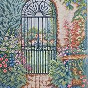 """Картины и панно ручной работы. Ярмарка Мастеров - ручная работа Вышитая картина """"Калитка в сад"""". Handmade."""