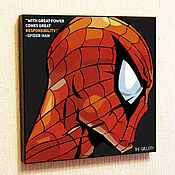 Картины и панно handmade. Livemaster - original item Painting Pop Art Spiderman. Handmade.