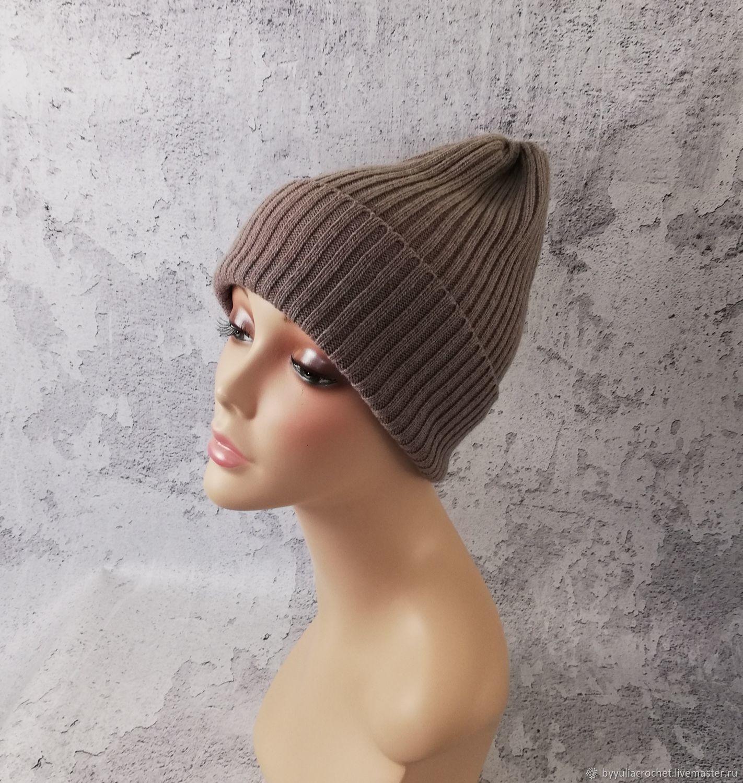 Woolen hat, Merino wool beanie, knitted hat, Caps, Krasnodar,  Фото №1