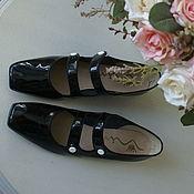 Винтаж ручной работы. Ярмарка Мастеров - ручная работа Туфли лаковые с ремешками Wina, размер 7,5 (длина по стельке 25 см). Handmade.