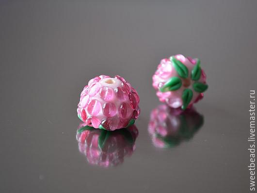 Для украшений ручной работы. Ярмарка Мастеров - ручная работа. Купить Ежевика лампворк лэмпворк, розовая. Handmade. Бусины для украшений