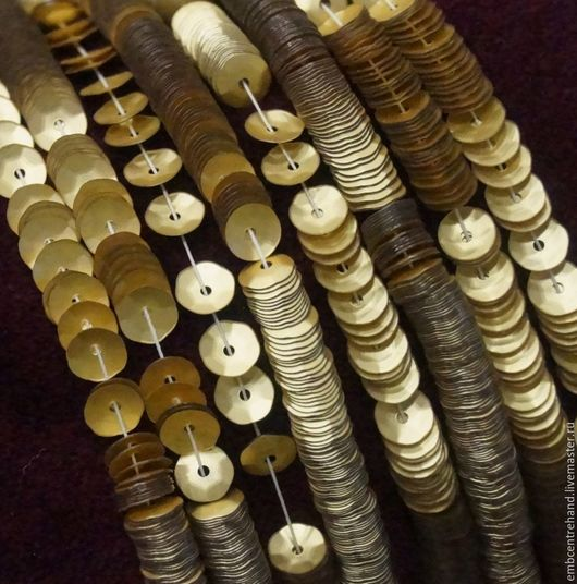 Вышивка ручной работы. Ярмарка Мастеров - ручная работа. Купить Кюветки (пайетки чаша)  5 мм № 806W (Италия). Handmade.