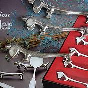 Винтаж ручной работы. Ярмарка Мастеров - ручная работа Винтажный набор подставок под ножи посеребрение 5x. Handmade.