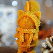 Сувениры и подарки handmade. Livemaster - original item Cat figurine wax candle. Handmade.