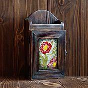 Ключницы ручной работы. Ярмарка Мастеров - ручная работа Ключницы: Ключница деревянная подвесная.. Handmade.