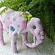 Elephant backpack 'Where the baobab trees left on the slope...', Stuffed Toys, Kolomna,  Фото №1