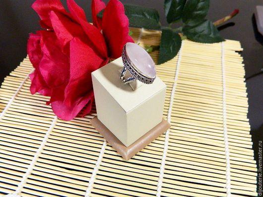 """Кольца ручной работы. Ярмарка Мастеров - ручная работа. Купить Кольцо """"Розовый Фламинго-1"""", натуральный розовый кварц.. Handmade."""