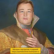 Картины и панно handmade. Livemaster - original item gift for birthday. Portrait in the image of the king, boyar. Handmade.