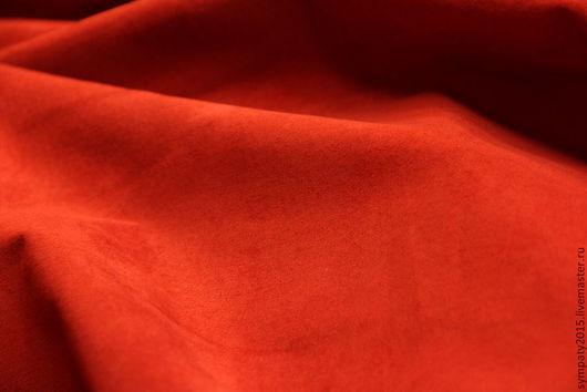 Замша натуральная красная