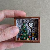 """Подарки к праздникам ручной работы. Ярмарка Мастеров - ручная работа Румбокс """"Новый год"""" 1:48. Handmade."""