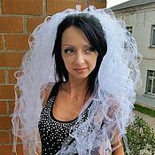 Свадебный салон ручной работы. Ярмарка Мастеров - ручная работа Пышная фата для девичника. Необычная фата для невесты. Handmade.