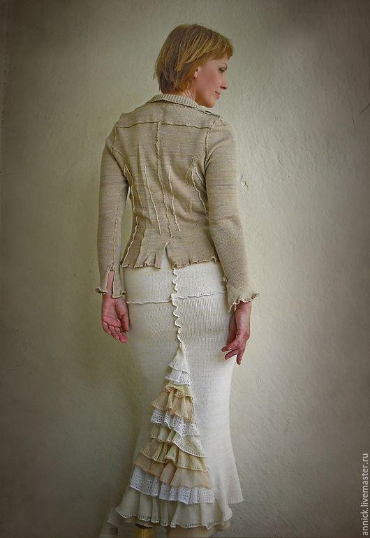 Пиджаки, жакеты ручной работы. Ярмарка Мастеров - ручная работа. Купить Вязаный жакет. Handmade. Жакет, женский жакет