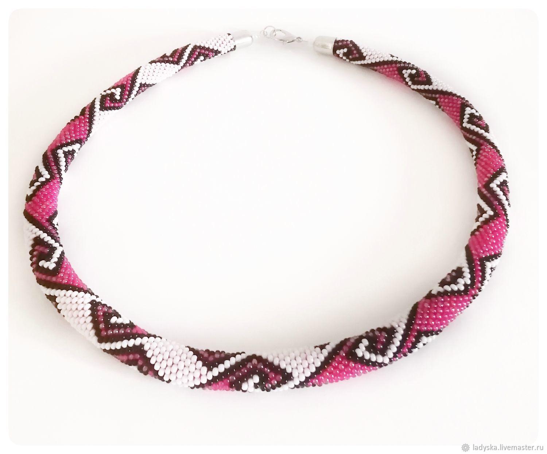 Necklace-harness ' SCARLET CURL', Necklace, Smolensk,  Фото №1