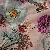 Ткани ручной работы. Ярмарка Мастеров - ручная работа Ткань шифон цветы С 56.1 розовый. Handmade.