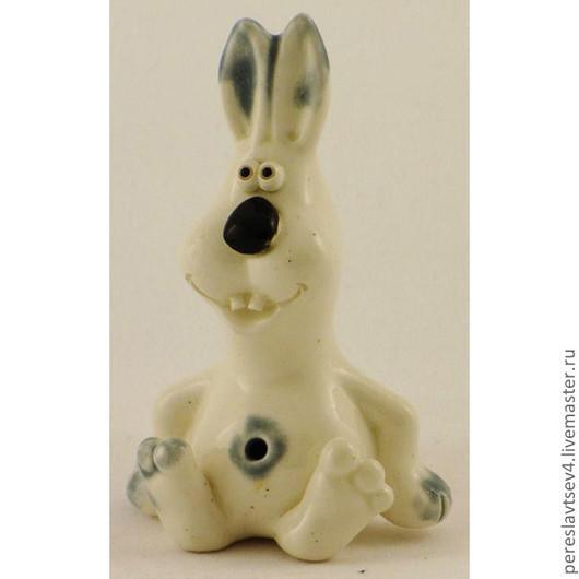 Миниатюра ручной работы. Ярмарка Мастеров - ручная работа. Купить Заяц. Handmade. Керамика, глина, фаянс