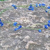 Украшения ручной работы. Ярмарка Мастеров - ручная работа Венок с синими цветами. Handmade.