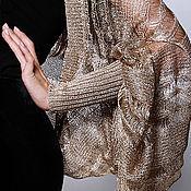 Материалы для творчества ручной работы. Ярмарка Мастеров - ручная работа Роскошный трикотаж нарядный итальянская вискоза Расплавленное Золото. Handmade.