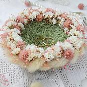 """Свадебный салон ручной работы. Ярмарка Мастеров - ручная работа Гнездышко для колец """" Floral Nest """". Handmade."""