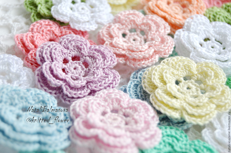 купить цветы вязаные в интернет магазине на ярмарке мастеров с доставкой