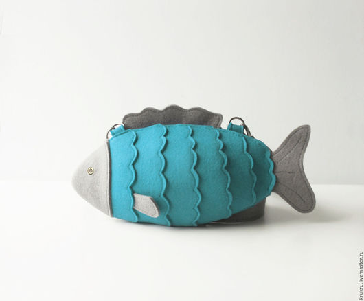 Женские сумки ручной работы. Ярмарка Мастеров - ручная работа. Купить Сумочка Рыбка малая. Handmade. Бирюзовый, бирюза, рыбка