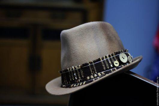 Шляпы ручной работы. Ярмарка Мастеров - ручная работа. Купить Шляпа фетровая (06). Handmade. Коричневый, шляпа из фетра