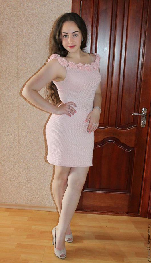 """Платья ручной работы. Ярмарка Мастеров - ручная работа. Купить """"Роза"""". Handmade. Бледно-розовый, платье, платье вечернее"""