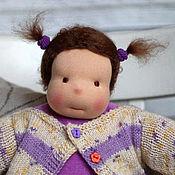 Куклы и игрушки ручной работы. Ярмарка Мастеров - ручная работа Пуговка - кукла игровая вальдорфская ручной работы для девочки. Handmade.