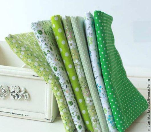 """Шитье ручной работы. Ярмарка Мастеров - ручная работа. Купить Набор хлопка  пасха """"Зеленый сочный""""  тканей для тильды, пэчворка. Handmade."""