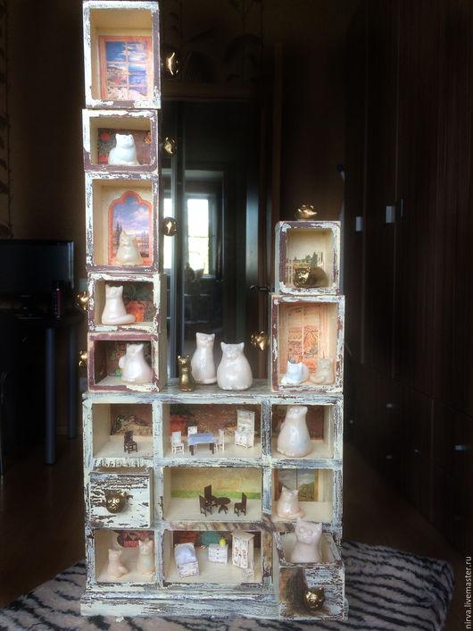 Персональные подарки ручной работы. Ярмарка Мастеров - ручная работа. Купить Кошкин дом. Handmade. Бежевый, домики, необычный подарок