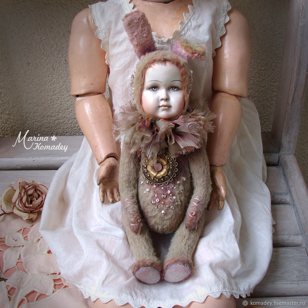 тедди-долл Августина, Куклы и пупсы, Санкт-Петербург,  Фото №1