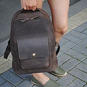 Рюкзаки ручной работы. Ярмарка Мастеров - ручная работа Рюкзак кожаный Whol C009 (brown crazy horse). Handmade.