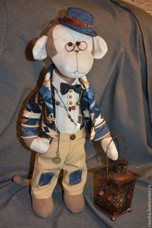 Игрушки животные, ручной работы. Ярмарка Мастеров - ручная работа. Купить Макак Марио Маркос Луи-4. Handmade. Бежевый