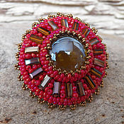 Украшения handmade. Livemaster - original item Elastic hair band beads embroidery 3. Handmade.