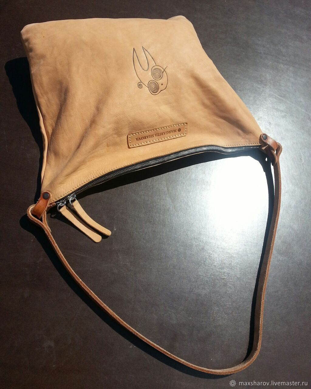 Handmade leather bag. Minimalism MG, Crossbody bag, Moscow,  Фото №1
