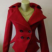 Одежда ручной работы. Ярмарка Мастеров - ручная работа Красный жакет из шерсти. Handmade.