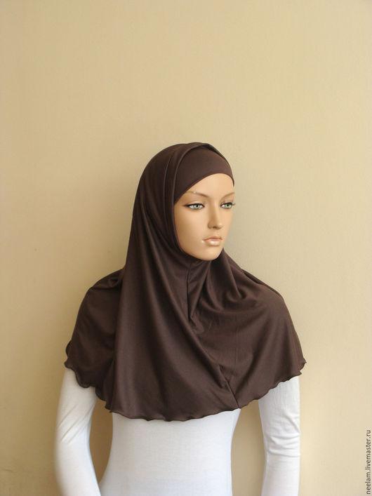 Этническая одежда ручной работы. Ярмарка Мастеров - ручная работа. Купить Базовый хиджаб - амира ,  капучино. Handmade. Коричневый, ислам