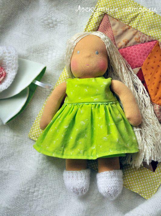 Вальдорфская игрушка ручной работы. Ярмарка Мастеров - ручная работа. Купить Кукла Поля. Handmade. Вальдорфская кукла, кукла, трикотаж
