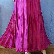 Одежда handmade. Livemaster - original item Skirt bunk to the floor of Maliki( purple). Handmade.