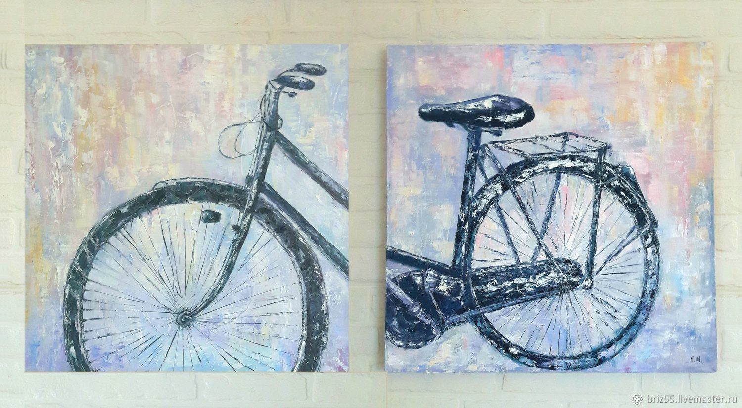 Modular oil painting Bicycle, Pictures, Zelenograd,  Фото №1