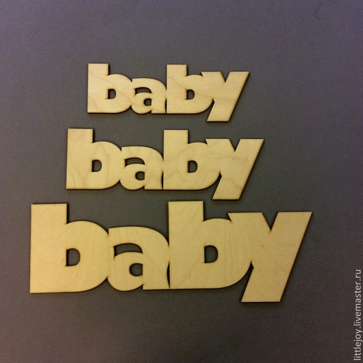 Аксессуары для фотосессий ручной работы. Ярмарка Мастеров - ручная работа. Купить Baby 3 размера.Слово для декора и фотосессий. Handmade.