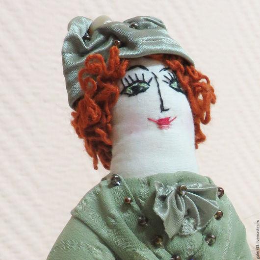 Коллекционные куклы ручной работы. Ярмарка Мастеров - ручная работа. Купить Горожанка - авторская кукла. Handmade. Мятный, декоративная кукла