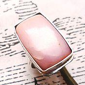 """Украшения ручной работы. Ярмарка Мастеров - ручная работа """"Афродита"""" крупный розовый опал, ажурное серебро 925. Handmade."""