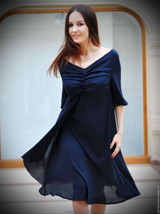 """Платья ручной работы. Ярмарка Мастеров - ручная работа. Купить Струящееся платье """"Нежность 2"""". Handmade. Черный, эффектное платье"""