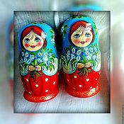 Русский стиль handmade. Livemaster - original item Matryoshka floral, 5 seats, Bells !. Handmade.