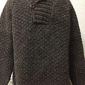 Одежда ручной работы. Ярмарка Мастеров - ручная работа Джемпер мужской из чистой шерсти. Handmade.