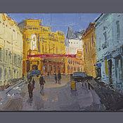 Картины и панно handmade. Livemaster - original item Kuznetsk bridge. mini-painting. Handmade.