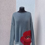 Одежда ручной работы. Ярмарка Мастеров - ручная работа свитерок вязаный мохеровый  оверсайз  ручная работа. Handmade.