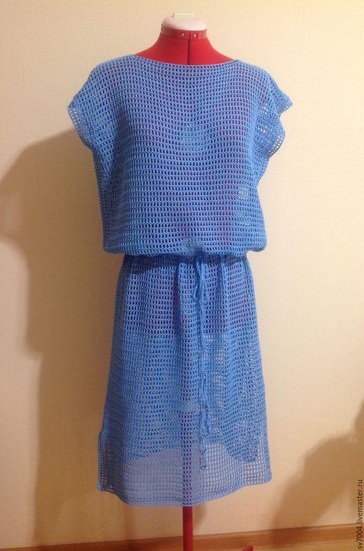 """Платья ручной работы. Ярмарка Мастеров - ручная работа. Купить Платье """" море """". Handmade. Голубой, платье на заказ"""