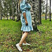 Одежда ручной работы. Ярмарка Мастеров - ручная работа Платье рубашка из хлопка. Handmade.